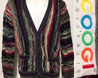 2c96635cb643f Vintage Authentic Coogi Cardigan Sweater M