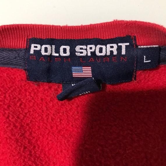Vintage Polo Sport Sweatshirt L - image 9