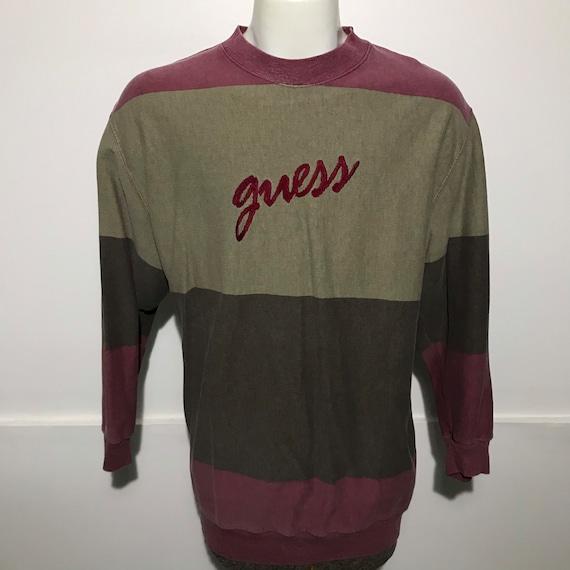 Vintage Guess Color Block Sweatshirt M/L