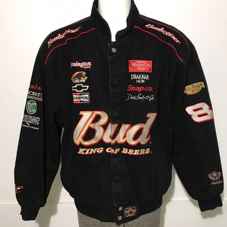 944d28d94 Vintage Jeff Hamilton Budweiser Dale Earnhardt Jr Racing Jacket XL