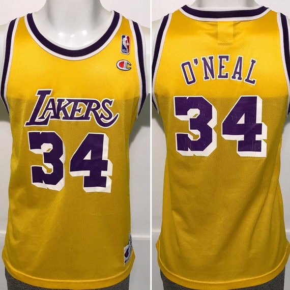 Vintage Shaq Shaquille O'Neal Lakers Champion Jers