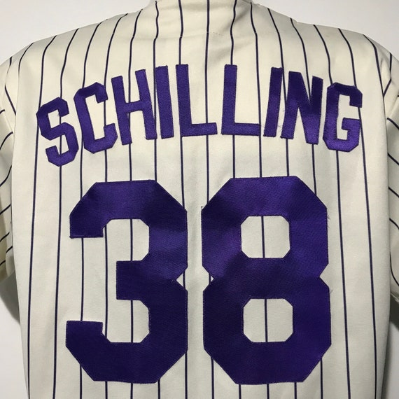 Vintage Curt Schilling Arizona Diamondbacks World Series Champions Jersey L