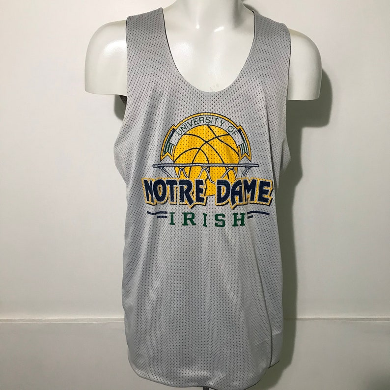 new style 03711 5bce6 Vintage Notre Dame Reversible Basketball Jersey by Champion XL
