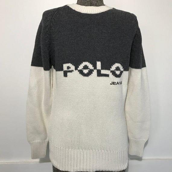 Vintage Polo Jeans Co Ralph Lauren Sweater Ladies S Etsy