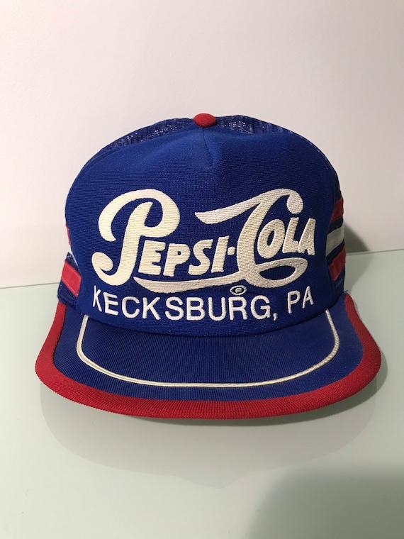 Vintage Pepsi Cola 3 Stripe Kecksburg PA SnapBack