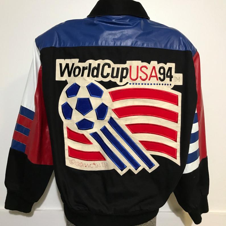 Vintage Jeff Hamilton USA 1994 World Cup Soccer Jacket L