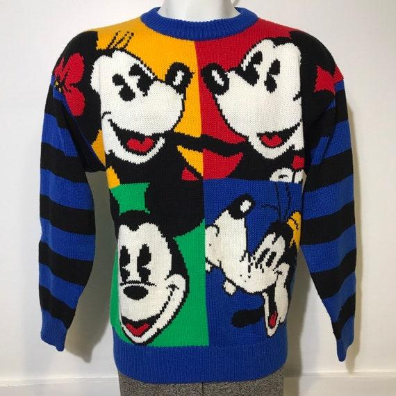 Vintage Mickey Minnie Goofy Sweater M