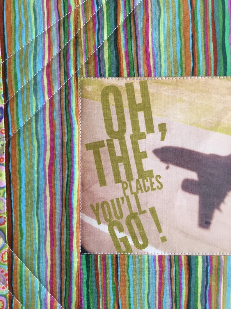 the Places You/'ll Go! Oh Art Quilt