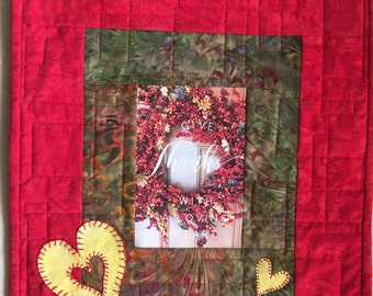 Art Quilt-Give Thanks with a Loving Heart