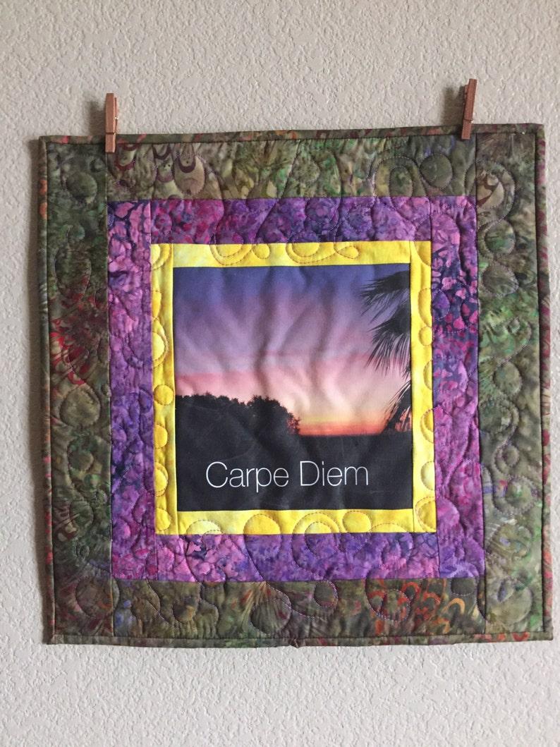 Art Quilt Carpe Diem