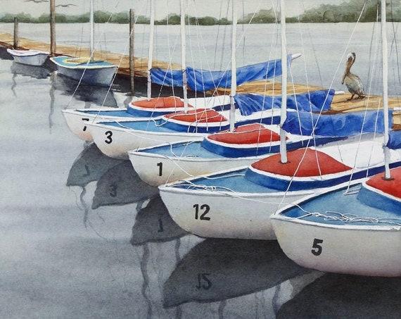 No Sails Today, original watercolor