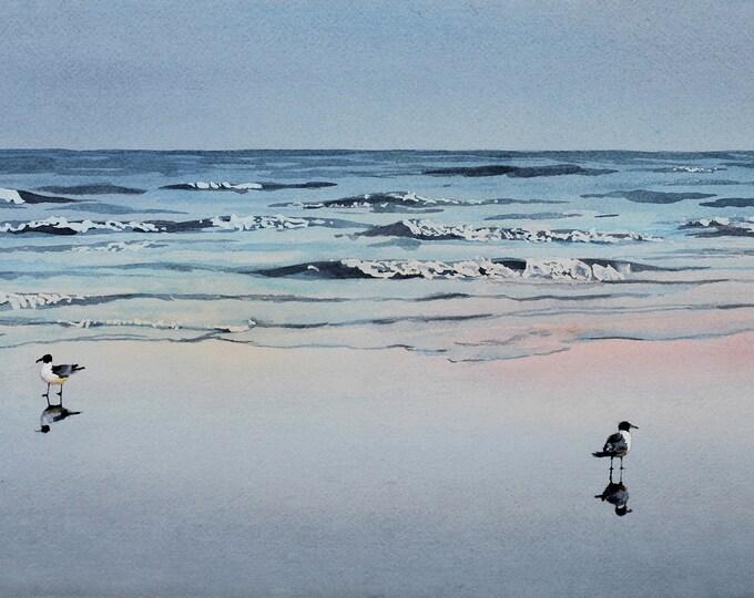Ebb Tide, original watercolor painting