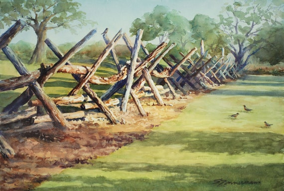 Split wood buck fence