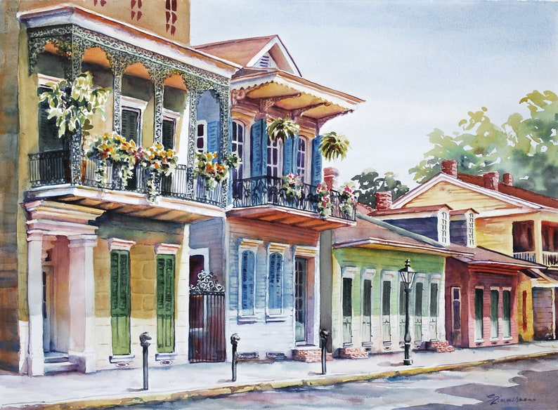 Vieux Carre historic architecture New Orleans French Quarter image 0