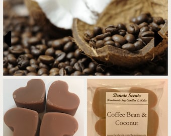 Coffee Bean & Coconut. Soy Wax Melts. Home Fragrance. Candles.