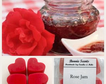 Rose Jam. Soy Wax Melts. Home Fragrance. Lush dupe