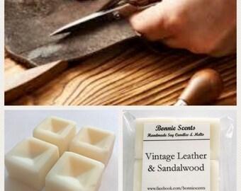 Vintage Leather & Sandalwood. Soy Wax Melts. Home Fragrance.