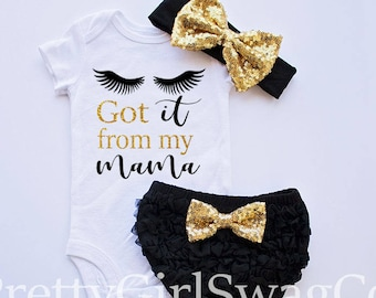 Baby Shower Gift, Baby Girl Outfit, Birthday Gift, Newborn coming home, girl coming home outfit, Going Home Outfit, Got It from My Mama