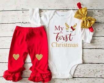 baby girls christmas clothing my first christmas outfit babys first christmas outfit oh deer christmas clothing christmas clothing set