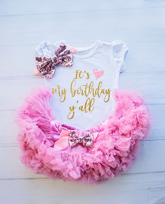 Girl Birthday Outfit First Shirt Baby Clothing