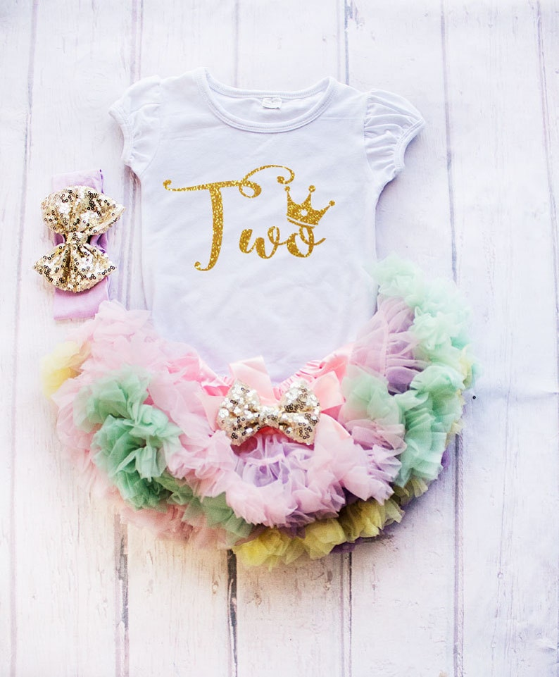 2nd Birthday Outfit Baby Girl Clothing Cake Smash