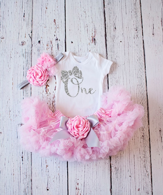 Meisje Verjaardag Outfit 1e Verjaardag Outfit Baby Girl Etsy