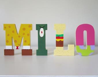 Amazing Spongebob Inspired Name Letters For Kids, Kids Room Decor Wall Art,  Birthday Decorations, Custom Kids Name Letters