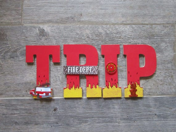 hand painted firefighter letters kids room letters for boys etsy