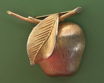 Vintage apple brooch