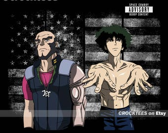 Spikonia - Spike Spiegel Parody Album Cover Men's Unisex T-Shirt - Spike Spiegel Anime Pop Parody Clothing