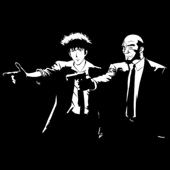 Pulp Cowboy - Spike Spiegel Mashup Pulp Fiction Unisex Hoodie - Anime Pop Parody Clothing 9OdWqazlsn