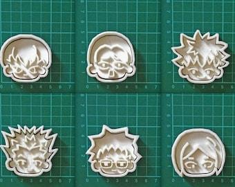 haikyuu!! Character cookie cutters