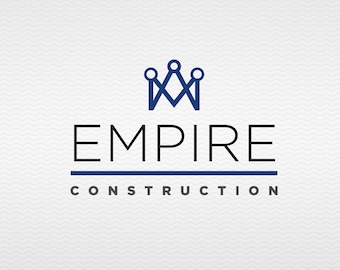 Empire | Premade, Customizable Logo with Crown for your Construction and/or Contracting Business or Blog on a budget - Clean and Simple.