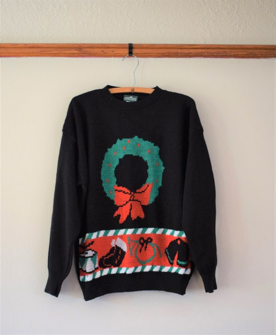 Vintage Ugly Christmas Sweater Women's Large / Vin