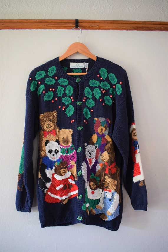 Vintage Ugly Christmas Sweater Women's Small / Vin
