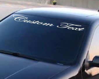 """LOVING LIFE 4/""""X40/"""" Decal Letters Car Window WINDSHIELD Sticker Personalized"""