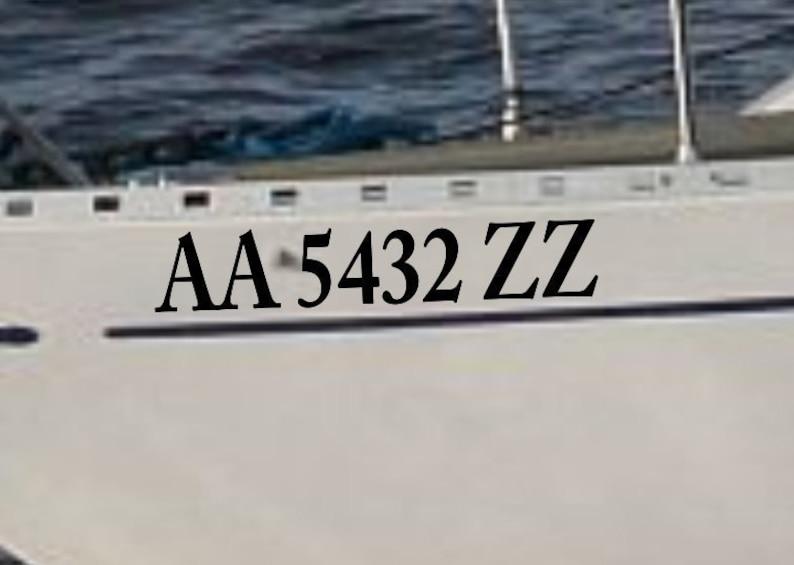 "3/"" x 20/"" 2X CUSTOMIZE YOUR BOAT JETSKI REGISTRATION NUMBER LETTERING  DECALS"