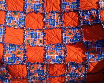 Florida Gators Blanket/ Quilt/ Throw