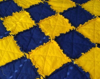 Down Syndrome Awareness colors Ragged Quilt
