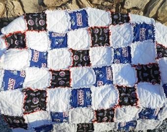New York Giant & Mets Throw Blanket/ NEW York Mets Blankets/ New York Giants Blankets/MLB Blankets/Baseball Blankets/Gifts/ ragged blanket