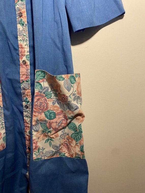 floral housecoat