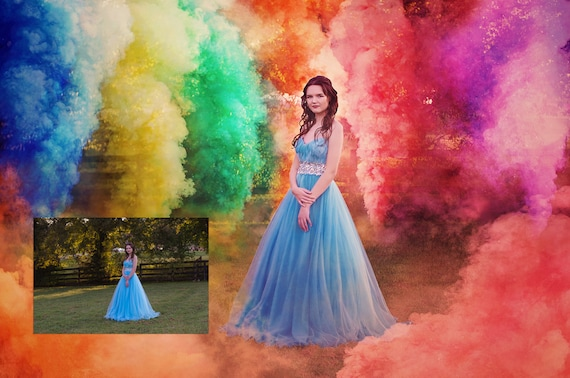 Color Smoke Bomb Overlays - Smoke Overlay - Photoshop - Gender Reveal -  Rainbow Baby