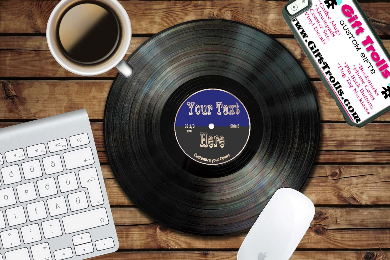 Custom Text Vinyl Circle Mouse Pad - Mousepad - CoWorker