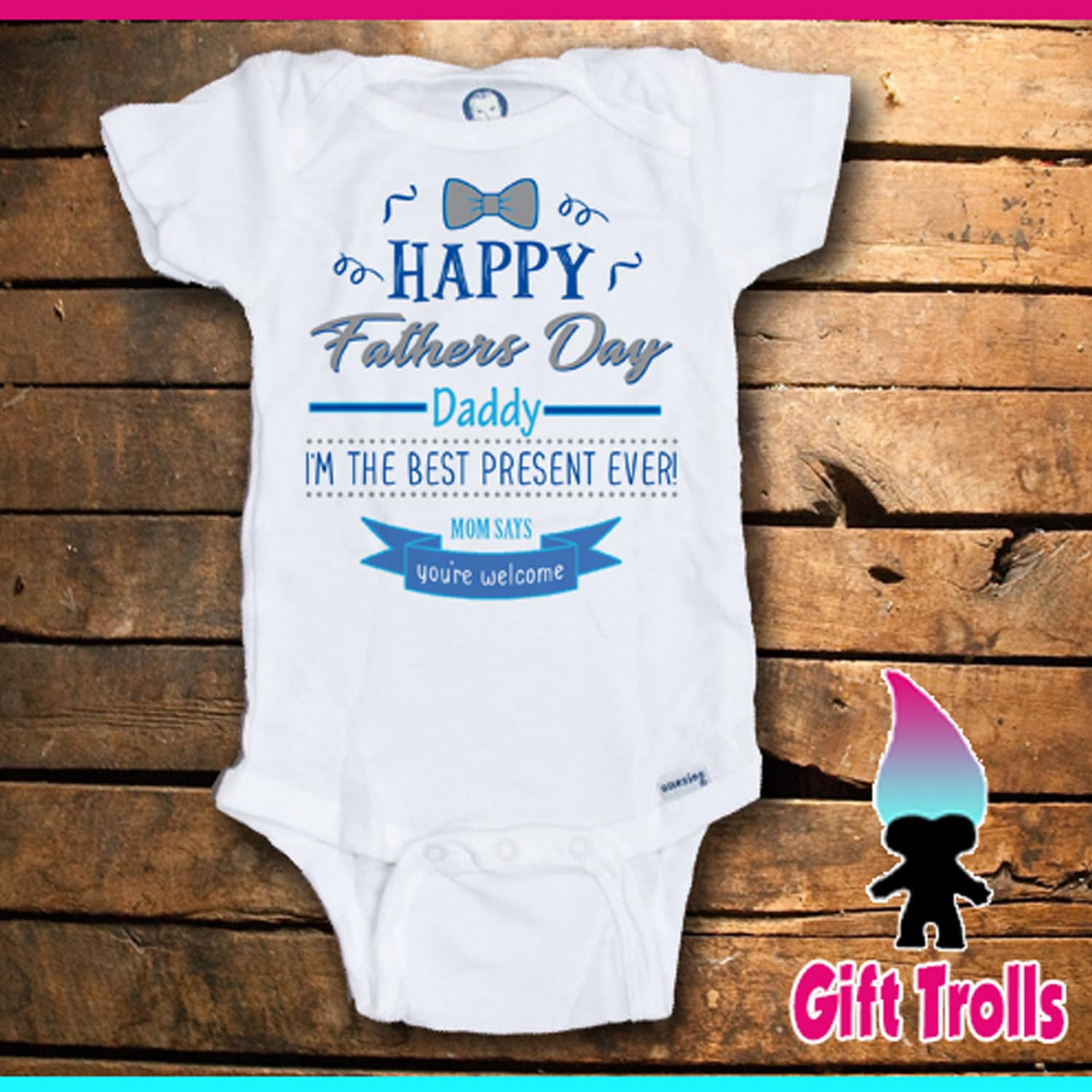 im the best fathers day gift ever romper tshirt fathers day gift