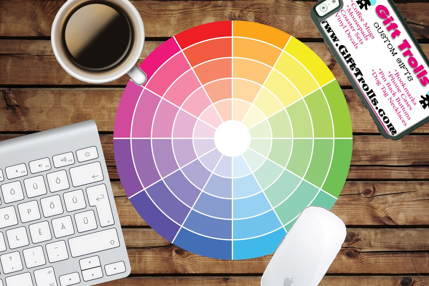 Color Wheel Circle Mouse Pad Mousepad Coworker Teacher Gift