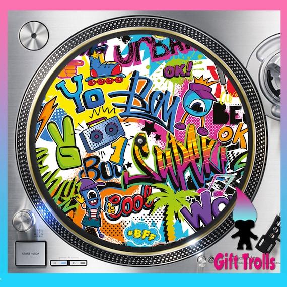 80/'s Hip Hop Graffiti DJ Slipmats  Turntable Slip Mats Technics Stanton