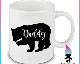 Daddy Bear Mug, New Dad Gift, Dad Mug, Father's Day Gifts, Dad Gifts, Baby Shower Gift, Father Gift, Dad Tea Cup, Dad Present