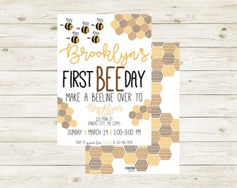 BEEday PARTY | Bee Party Invitation |  Bee Themed Party | Bee Party | BEEday | BEEday Birthday Party | Bee Birthday | Bee Birthday | Bees