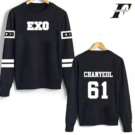 Kpop EXO For Life Sweater SEHUN LAY DO CHANYEOL BAEKHYUN Unisex  Sweatershirt