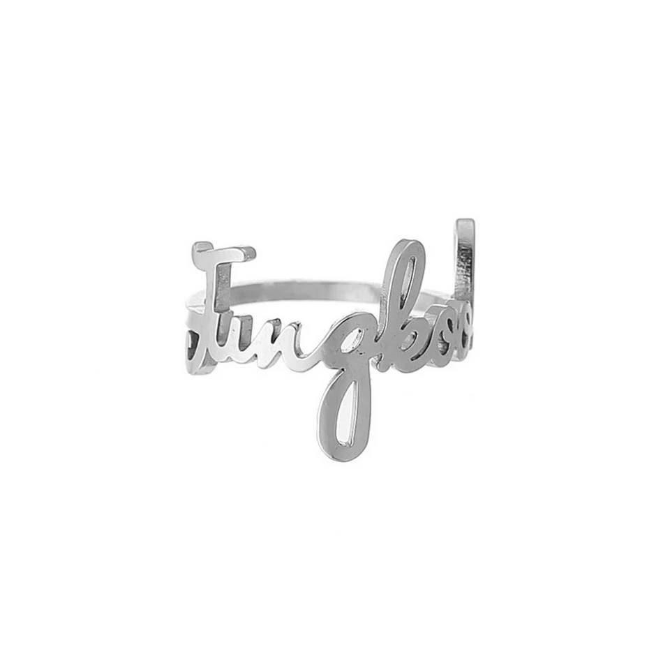 HENJOY Korean idol BTS bang tan boys zinc alloy name rings